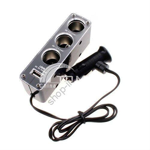 Трехместный 1 до 3 Разъем USB + питания K85