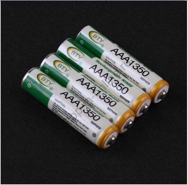 Аккумулятор 1350mAh AAA Ni-MH 1.2V - 4шт.